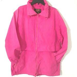 Eddie Bauer Windbreaker Hot Pink Large USA
